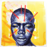 """Heritage"" - Painting - Acrylic, Spray & ink on paper / 35x35cm - mai 2015"